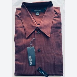 NWT Kenneth Cole Reaction Slim Fit Striped Shirt